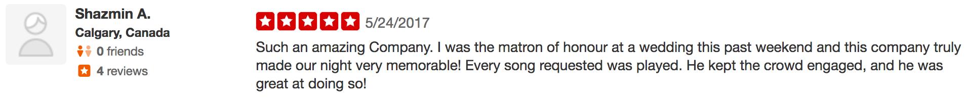 Shazmin says Great dj